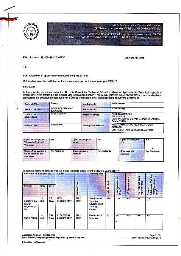 AICTE Approval-EOA-16-17