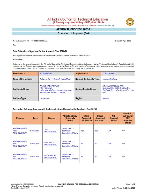 AICTE EOA Report 2020-21